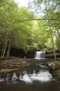 Waterfall located at the Clinch Mountain Wildlife Management Area