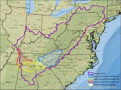 Tennessee River Basin Aquatic Units Map