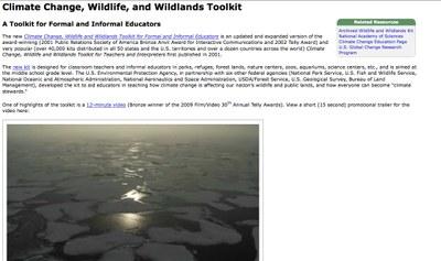 Climate Change, Wildlife, and Wildlands Toolkit