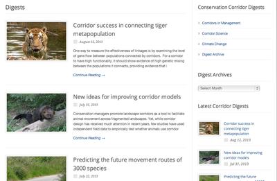 Conservation Cooridor Digest