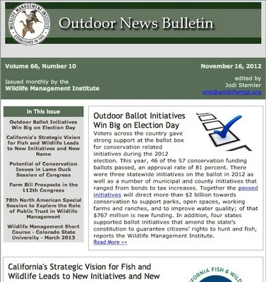 WMI: Outdoor News Bulletin