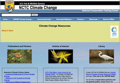 US Fish and WIldlife Service NCTC Climate Change - Climate Change Resources