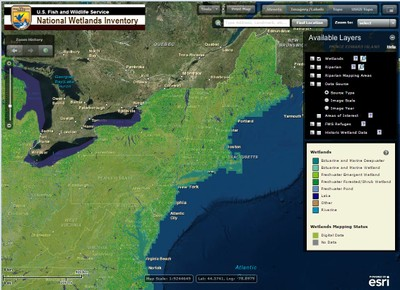 U.S. Fish and Wildlife Service Wetlands Mapper